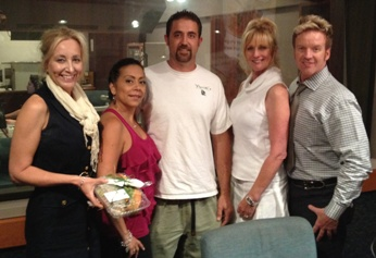 Chef Adam Navidi and Barbie on KABC Bikini Lifestyles