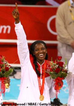 OLYMPIC GOLD MEDALIST DELISHA MILTON JONES, BEIJING