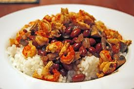 Shrimp with Red Beans and Quinoa