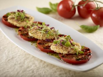 Warm Crusted Mozzarella and Tomatoes at Seasons 52