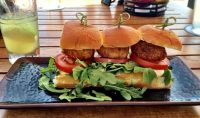 Nelson's at Terranea Resort Crab Cake Sliders