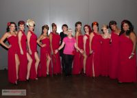Dinair founder, Dina, with The Red Hots backstage