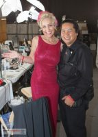Backstage at Emmys with Albert Evangelista, my photographer