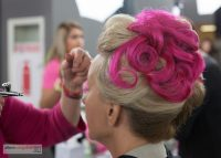 The updo... all pink and Dinair fabulous