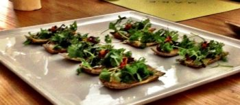 HERB STEMS, CORIANDER CREAM AND PORCINI CRACKER