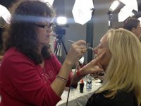 Dinair airbrush expert, Connie, gets me Red Carpet beautiful