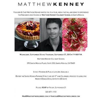 MATTHEW KENNEY RAW COOKING SCHOOL
