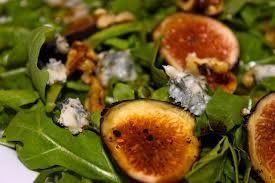 Arugula Greens with Fig and Stilton Blue Cheese