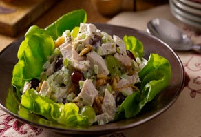 Smoked Turkey Salad with Grapes