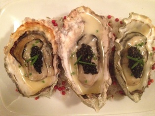 Binchontan-Grilled Oysters