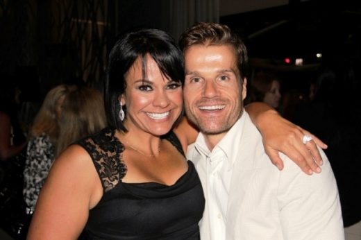 Ali Vincent with Louis Van Amstel