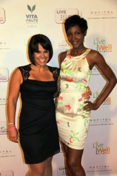 Ali Vincent with Roshumba Williams