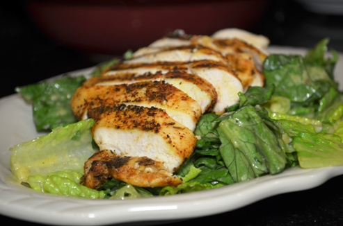 Blackened Grilled Chicken Caesar Salad