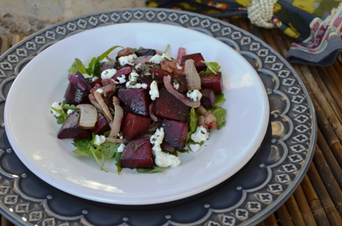Maple Roasted Beets with Goat Cheese