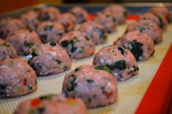 Baked Turkey Spinach Meatballs