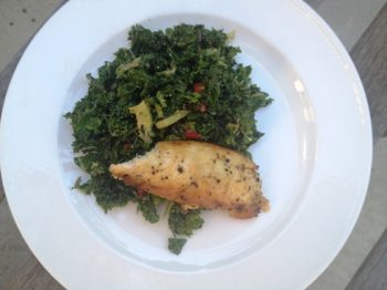 Chopped Kale Salad with Lemon Pepper Chicken