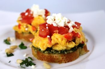 Breakfast Egg Bruschetta