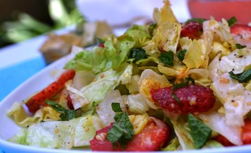 Strawberry Salad with Goldenberry Vinaigrette