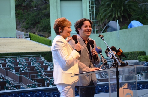 Gustavo Dudamel at the Hollywood Bowl preview