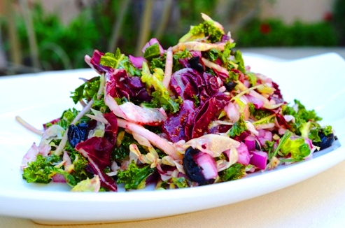 Kale Salad with Wild Blueberry Vinaigrette