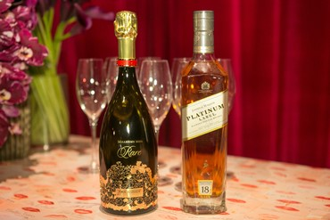 Piper Heidsieck and Johnnie Walker Platinum