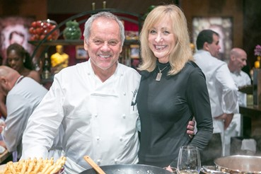 with Chef Wolfgang Puck