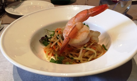 Green Papaya and Chilled Shrimp