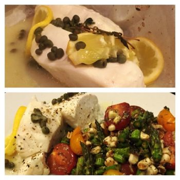 Parchment Poached Halibut