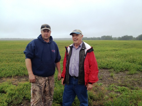David Yarborough, right, with one of the lead growers