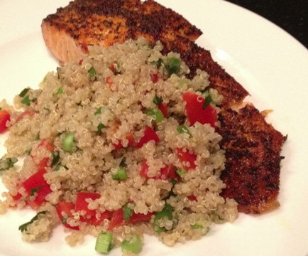 Oven Grilled Salmon with Quinoa