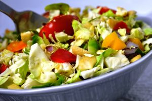 Shredded Brussels Sprouts Salad with Balsamic