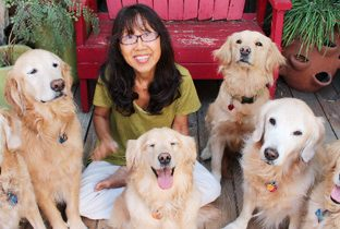 Sanae Suzuki with her dogs