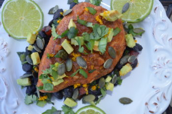 Chicken with Black Bean Salsa for Max Sports and Nutrition